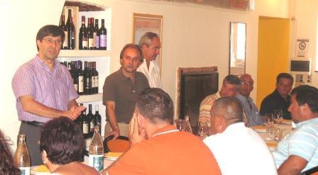 Domenico Pesenti al pranzo sociale
