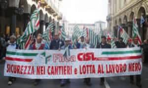 La Filca Cisl nella manifestazione del 1° maggio